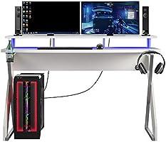 NTENSE Xtreme Gaming Riser, White Desk