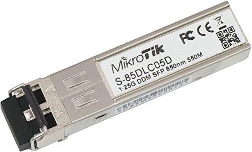 Mikrotik S-85DLC05D 1250Mbit/s SFP 850nm red modulo transceptor - Transceptor de red (1250...