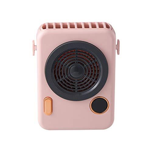 YOPOTIKA Mini ventilador portátil USB de carga para cámara de fotos con pantalla digital inteligente para niñas y mujeres, para mantener en casa, oficina, al aire libre, viajes, color rosa