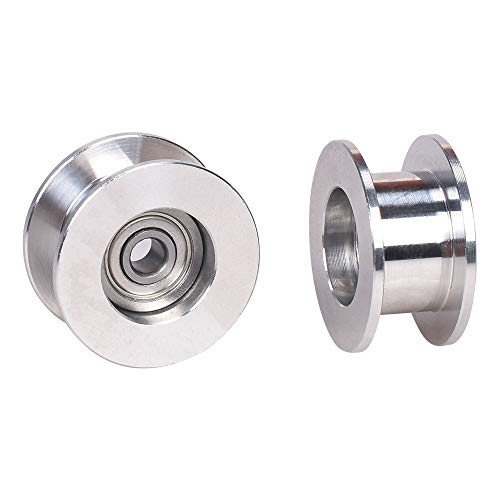 CHENJUAN GT2 Idler Pulley Without Tooth Timing Belt Pulley Wheel 3/5MM Bore Width 6MM 3D Printer Parts for prusa I3 MK3 MK3S spare parts (Size : Bore 5mm)