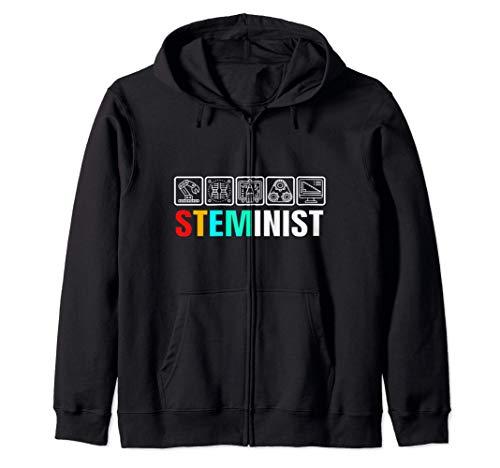 Steminist Womens Scienza Tecnologia Ingegneria e medicina Felpa con Cappuccio