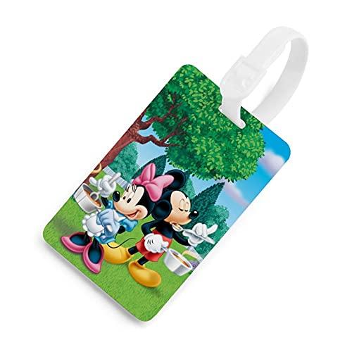 Mickey Mouse etiqueta de equipaje, lista de bolsas, tarjeta de embarque facturado, etiqueta de identificación de viaje etiqueta de privacidad dibujos animados lindos hombres y mujeres blanco-style1