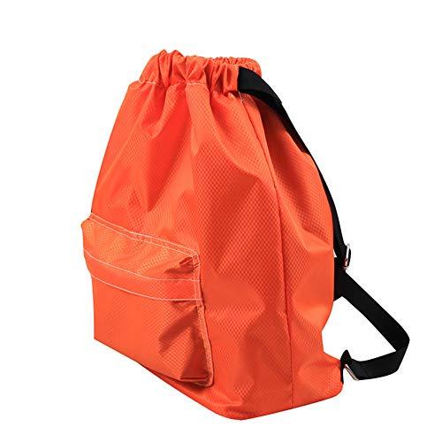 Demarkt Mochila Gym Bag Sack Turnbeutel algodón Canvas Bolsillo seco y Mojado Separados estanco Badetasche Deporte Mujeres Hombres niños, Color Diseño 4, tamaño 36 * 42CM