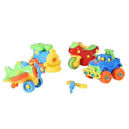 Cheap Mifelio Traffic Take Apart Toys Set for Boys and Girls Engineering Play Set Build Your Own Car...