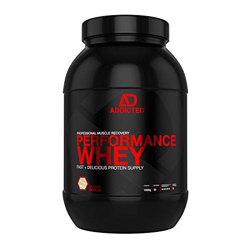 ADDICTED Performance Whey – Whey Proteinshake für den Muskelaufbau mit allen essentiellen Aminosäuren – Vanille – Whey Isolat - 1000g