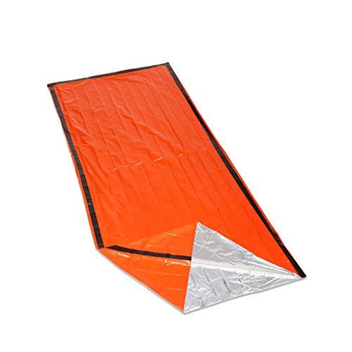Btruely 2-in-1 Outdoor PE aluminisierte Folie Camping Warm Erste Hilfe Decke Schlafsack Set Feuchtigkeitsdichte Isolierung Reflektierende Orange, Erste-Hilfe-Notdecke Schlafsack Isolierung