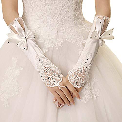 Gants de mariée mariage robe de soirée dentelle longs gants A12