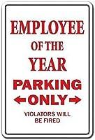 今年の従業員駐車壁錫サイン金属ポスターレトロプラーク警告サインヴィンテージ鉄の絵画の装飾オフィスの寝室のリビングルームクラブのための面白い吊り工芸品