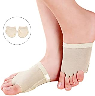 eDealMax 1 Pair Size M Dancewear Ballet Split Toe Sole Forefoot Pads Protective Cushion Protectors for