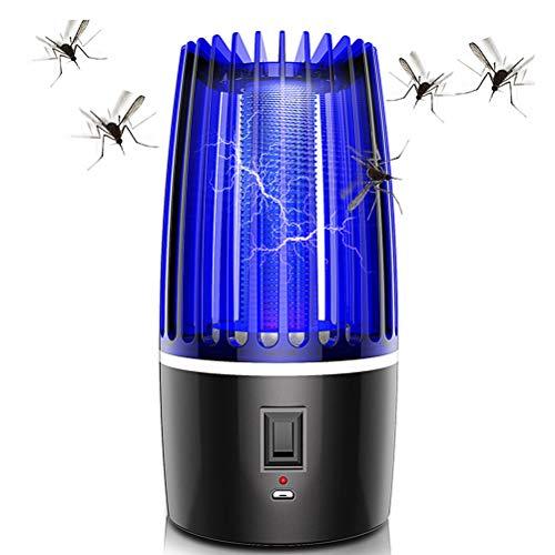 Katyma USB Insektenvernichter Mückenvernichter Tragbare Moskito Lampe Anti Mosquito Elektrischer Bug Zapper für Innen und Außeneinsatz, Büro, Garten