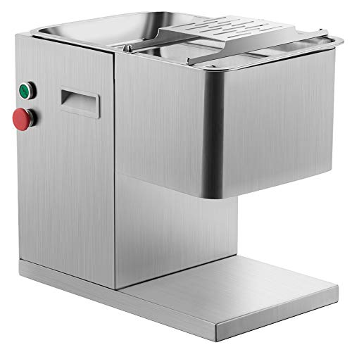 CO-Z 110V Commercial Meat Cutting Machine Meat Slicer 1100LB Per Hour 550W Stainless Steel Fresh Meat Cutter Commercial Grade Restaurant Meat Processing Machine Electric Slicer 3mm Cutting Blade