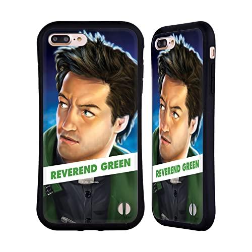 Head Case Designs Licenza Ufficiale Hasbro Cluedo Rev. Green Arte Chiave Cover Ibrida Compatibile con Apple iPhone 7 Plus/iPhone 8 Plus