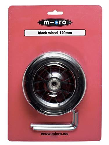 Micro Roue Avant 120 mm Noire pour Trottinette 3 Roues