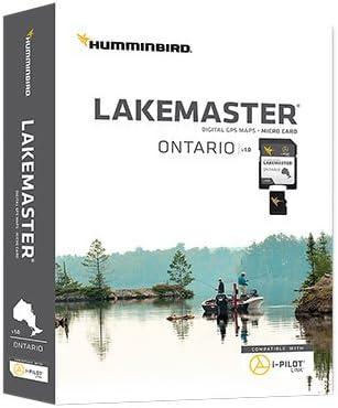 Humminbird LakeMaster Ontario Edition Digital GPS Lake Maps, Micro SD Card, Version 1