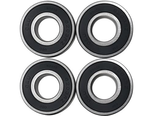 4 Bearings for Craftsman Poulan Husqvarna 110485X, 532110485: John Deere GX20818, JD8535: MTD 741-0600, 941-0600, 741-0124, 941-0124: Toro 100-1048, 10-9966, 112-0423, 251-277, 38-7820