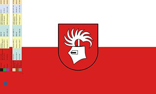Unbekannt magFlags Tisch-Fahne/Tisch-Flagge: Ebenweiler 15x25cm inkl. Tisch-Ständer