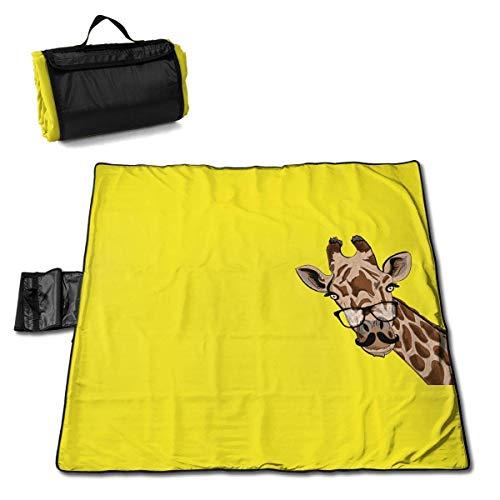 End Nazi Picknickdecke Giraffe Brille Picknickmatte Tragbare Tragetasche Campingmatte Für Strandcamping Wandergras Reisen