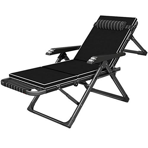Sonnenliege Saunaliege Recliner Relaxsessel mit Massagefunktion Metall Gestell Relaxliegen Klappbar für Wohnzimmer Balkon | Liegestühle Liegestuhl Bürostuhl Liegender, Schwarz
