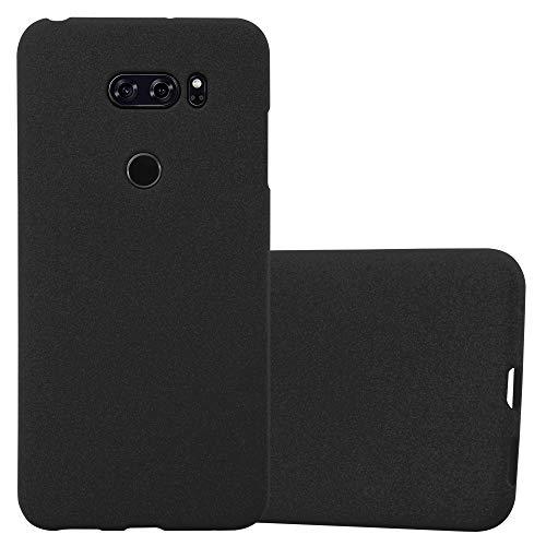 Cadorabo Custodia per LG V30 in Frost Nero - Morbida Cover Protettiva Sottile di Silicone TPU con Bordo Protezione - Ultra Slim Case Antiurto Gel Back Bumper Guscio