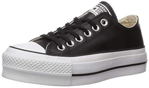 Converse Chuck Taylor CTAS Lift Clean Ox, Zapatillas para Mujer, Negro Black/White 001, 37.5 EU