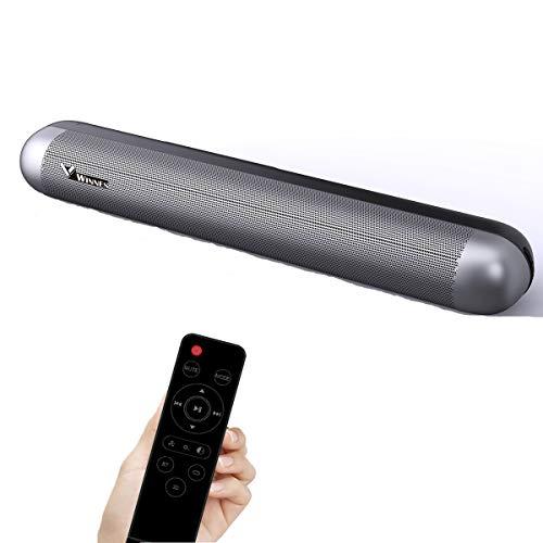Barra de Sonido 2.0 Canales para TV/PC,50W Soundbar Portátil Altavoces Bluetooth 5.0 con Control Remoto, Soporte Conexiones de Ópticos/USB/AUX Inalámbrico
