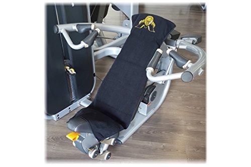 Fitnesshandtuch mit Fixierung / Kraftsport / Fitness / Fitnessstudio – 100 % Baumwolle Ð 2er Set schwarz - 4