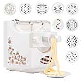 Electric Pasta Maker, Pasta and Ramen Noodle Maker, Automatic Pasta and Ramen Noodle Maker with 9...