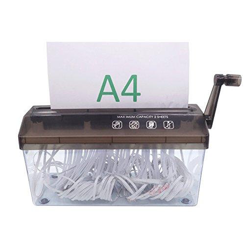 Destructora para Hojas A4, Destructor Trituradora de Papel Manual para Oficina Escuela Casa, para Papel y Documentos