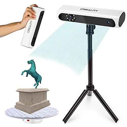 Escáner 3D Kit de Scanner 3D con Mesa Giratoria y Trípode, Precisión de 0,1 mm,Escaneo Rápido Facial y Corporal Para,sin marcador,Escáner de Impresión/Escáner de Modelado