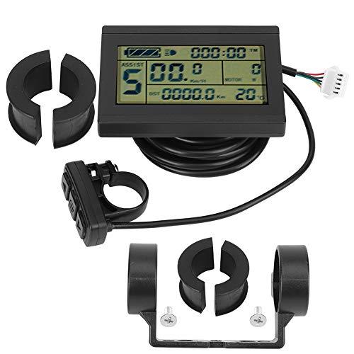 AMONIDA LCD-Instrument, E-Bike-LCD-Instrument, stabile Leistungsmischung für Radfahrer S-M-Anschluss
