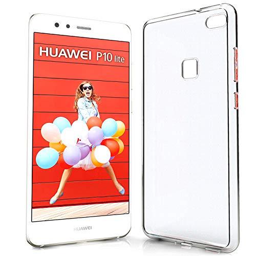NewTop Cover Compatibile per Huawei P10 Lite, Custodia TPU Clear Silicone Trasparente Slim Sottile Flessibile Back Case Posteriore Protettiva (per Huawei P10 Lite)