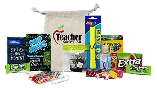 New Teacher Fun Survival Kit with Witty Instruction Card | Teacher Appreciation Gifts | Graduation Gift | Virtual Teacher