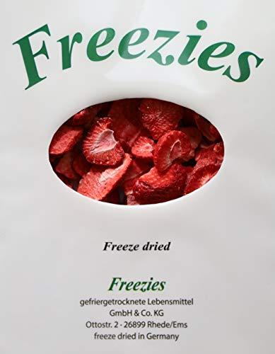 Freezies Erdbeerscheiben gefriergetrocknet 80g - ohne Zuckerzusatz , 100% Früchte Snack 80g = 5,54 Euro