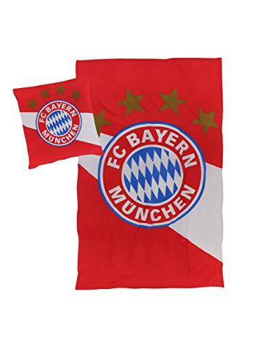 FC Bayern München Logo ropa de cama, 135 x 200 cm, franela