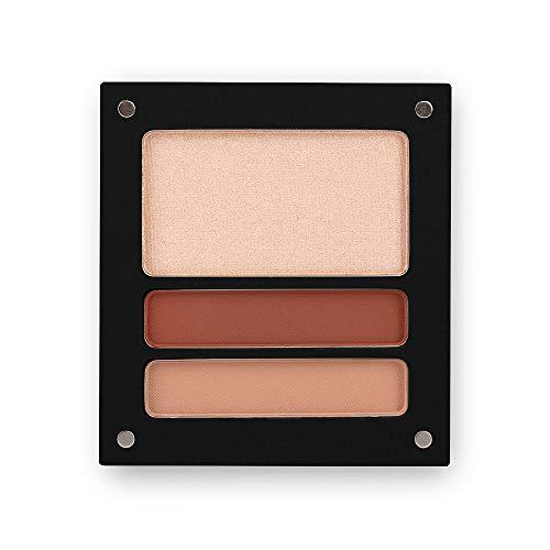 Jolly Dim Makeup Eyes & Glow Opalescent Set - 1 Highlighter & 2 Lidschatten, matt. Make-up-Palette...