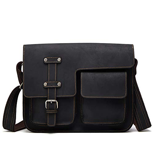N\A Briefcase, Leather Handmade Messenger Bag Rustic Computer Satchel Best Laptop Bag Brown Office Crossbody Shoulder Bag for Men and Women