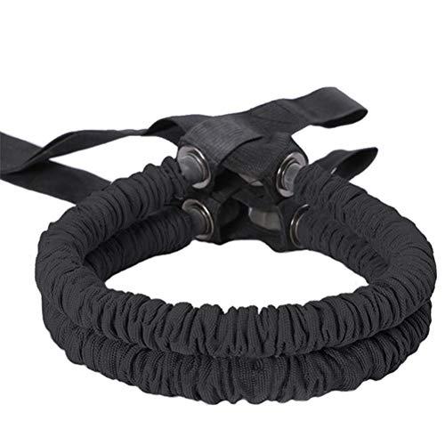 Cuerda para tracción de rueda abdominal multifunción para entrenamiento en casa (2 unidades)
