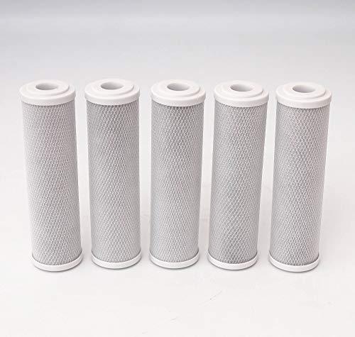 """10\"""" Aktivkohle Aktivkohleblock Filter Kartusche Wasserfilter Osmose Kalk Chlor 5 µm (2)"""
