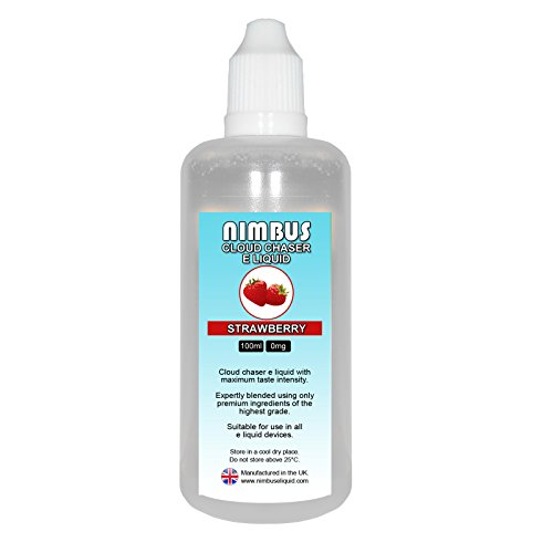 100ml Strawberry E Liquid 80/20 Cloud Chaser Sub Ohm Juice Shisha Vape...