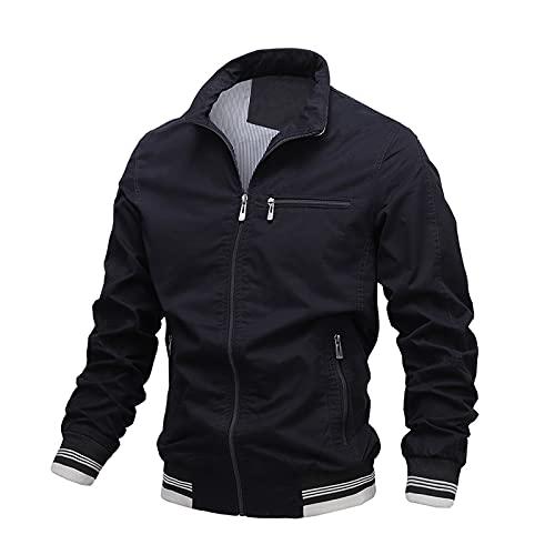 Sudadera con capucha para hombre, color a juego, con cordón, bolsillo con capucha, resistente a las heladas y al viento.
