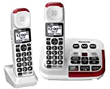 Panasonic KX-TGM420W + (1) KX-TGMA44W Amplified Cordless Phone with Digital Answering Machine and Voice Volume Booster upto 40 dB (2 Handsets)