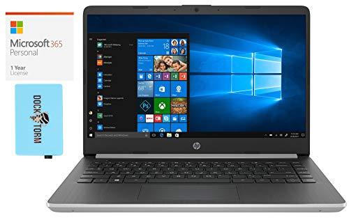 HP 14-dq0005cl Home Office Laptop (Intel Pentium N5000 4-Core, 4GB RAM, 64GB eMMC, Intel UHD 605, 14.0' Full HD (1920x1080), WiFi, Bluetooth, Webcam, Win 10 Home) with Microsoft 365 Personal, Hub