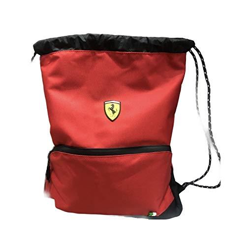 Mochila con cordón Ferrari rojo