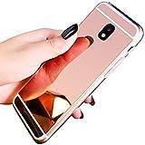 QPOLLY Coque Compatible avec Samsung Galaxy J7 2017/J730 Effet Miroir Etui en Silicone Souple...