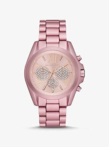 Relógio Analogico Mkors Feminino Caixa Alumínio Rosa; Pulseira Alumínio Rosa