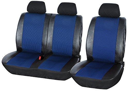 WOLTU AS7325 Coprisedili Anteriori Universali per Auto Seat Cover Protezione per Sedile della Macchina Similpelle Poliestere Blu