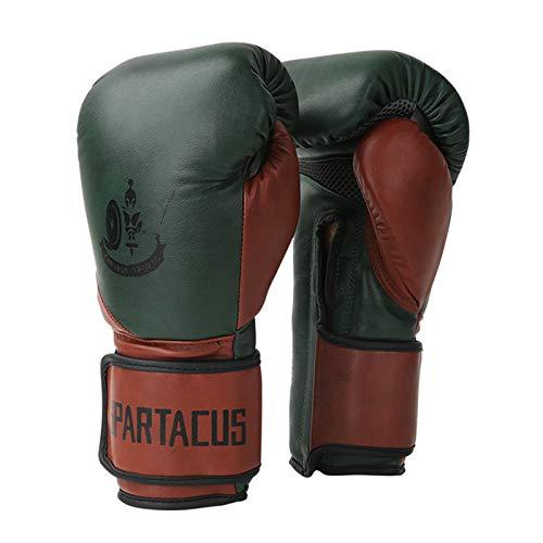 Guantes De Boxeo Boxing Gloves Piel De Vaca Vintage Lucha Entrenamiento De Sanda KáRate Muay Thai Unisexo,10OZ