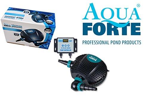AquaForte Teichpumpe, O-Plus 20000 Vario, 34-187W, Förderhöhe 6,5m, regelbar