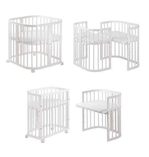 COMFORTBABY® Babybett Set SweetDream 10in1™ Multifunktional für Baby bis zu 1 Jahr erweiterbar (Newborn)