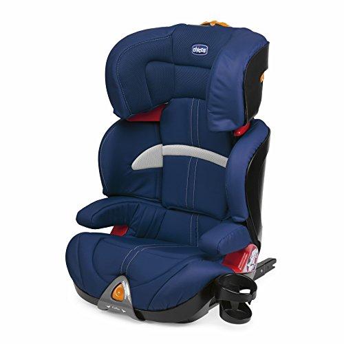 Chicco Oasys 2-3 FixPlus - Silla de coche para niños entre 3 y 12 años (7,9 kg, grupo 2-3), color azul